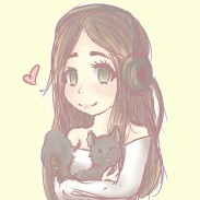 Me & Gin! <3 Drawn by CierBear! Check out her Instagram - https://www.instagram.com/lovetomorrowlove/